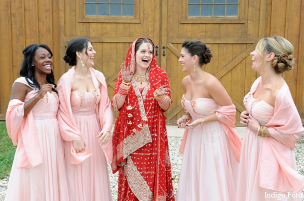 Indian wedding bridal party in Orient Point, New York Indian Fusion Wedding by Indigo Foto
