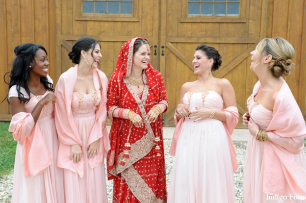 Indian wedding bridesmaid dresses in Orient Point, New York Indian Fusion Wedding by Indigo Foto