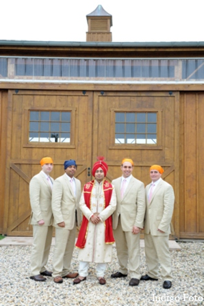 Indian wedding grooms party in Orient Point, New York Indian Fusion Wedding by Indigo Foto