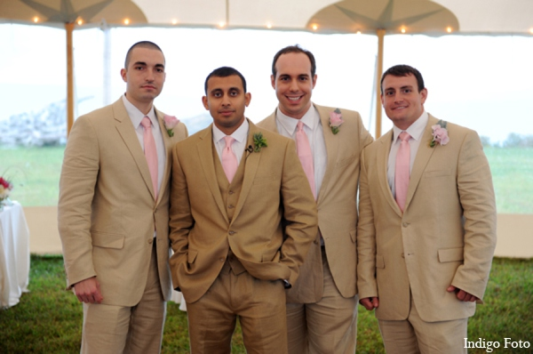 Indian wedding groomsmen in Orient Point, New York Indian Fusion Wedding by Indigo Foto
