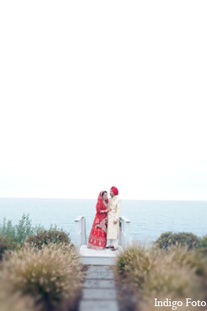 Indian wedding ocean portrait in Orient Point, New York Indian Fusion Wedding by Indigo Foto