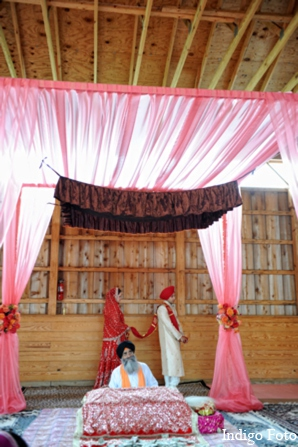 Indian wedding sikh mandap in Orient Point, New York Indian Fusion Wedding by Indigo Foto