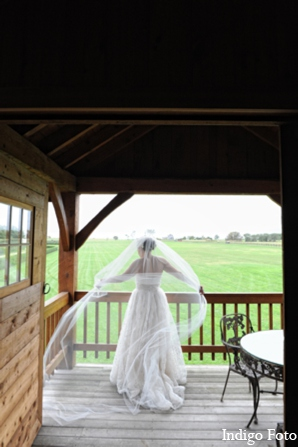 Indian wedding veil in Orient Point, New York Indian Fusion Wedding by Indigo Foto