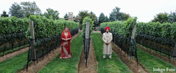 Outdoor sikh wedding portraits in Orient Point, New York Indian Fusion Wedding by Indigo Foto