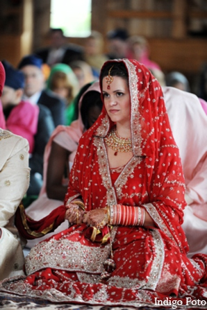 Sikh bridal fashion in Orient Point, New York Indian Fusion Wedding by Indigo Foto