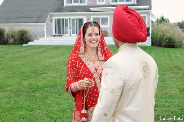 Sikh bride groom photos in Orient Point, New York Indian Fusion Wedding by Indigo Foto