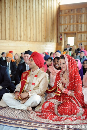 Tradition sikh wedding ceremony in Orient Point, New York Indian Fusion Wedding by Indigo Foto