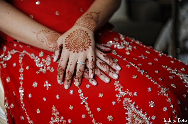 Traditional bridal mehndi in Orient Point, New York Indian Fusion Wedding by Indigo Foto