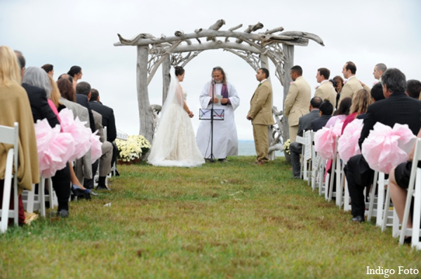Traditional sikh mandap outdoor in Orient Point, New York Indian Fusion Wedding by Indigo Foto