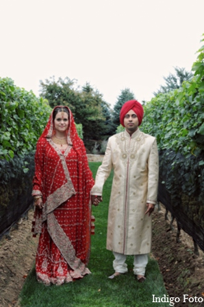 Wedding portraits in Orient Point, New York Indian Fusion Wedding by Indigo Foto