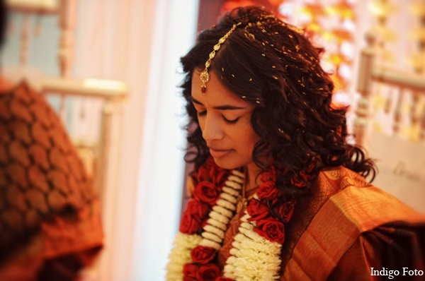 Indian wedding bride hair in Pearl River, NY Indian Fusion Wedding by Indigo Foto
