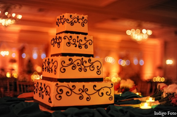 Indian wedding cake in Pearl River, NY Indian Fusion Wedding by Indigo Foto