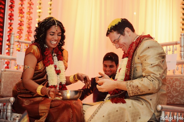 Indian wedding ceremony custom in Pearl River, NY Indian Fusion Wedding by Indigo Foto