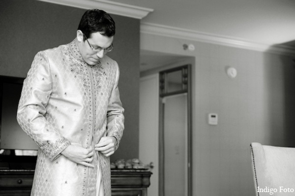 Indian wedding groom sherwani in Pearl River, NY Indian Fusion Wedding by Indigo Foto