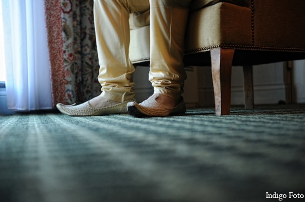 Indian wedding groom shoes in Pearl River, NY Indian Fusion Wedding by Indigo Foto