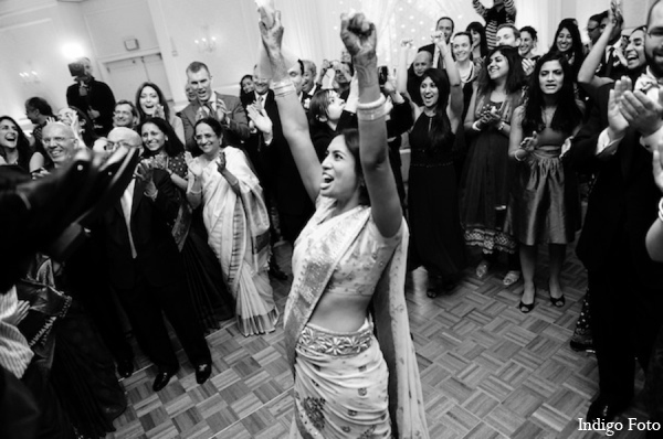 Indian wedding reception choli in Pearl River, NY Indian Fusion Wedding by Indigo Foto