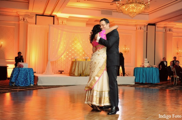 Indian wedding reception in Pearl River, NY Indian Fusion Wedding by Indigo Foto