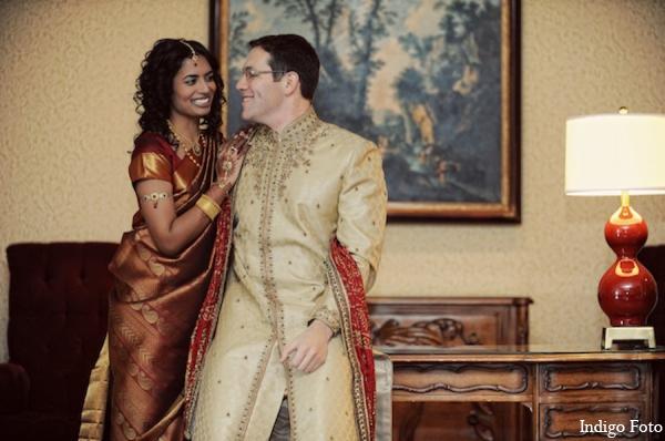 Indian wedding traditional bride groom in Pearl River, NY Indian Fusion Wedding by Indigo Foto