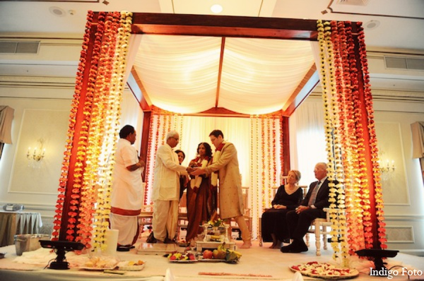 Indian wedding traditional mandap in Pearl River, NY Indian Fusion Wedding by Indigo Foto