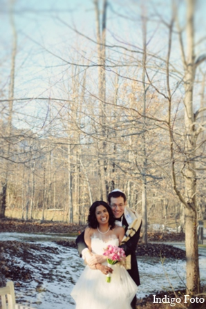 Winter indian wedding in Pearl River, NY Indian Fusion Wedding by Indigo Foto