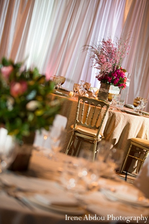 Indian wedding arrangement floral table photography in Wedding Decor Inspiration Shoot by Irene Abdou Photography