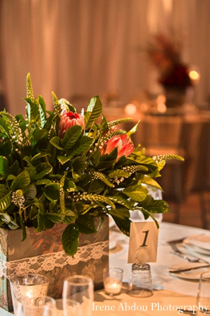 Indian wedding floral table arrangement in Wedding Decor Inspiration Shoot by Irene Abdou Photography