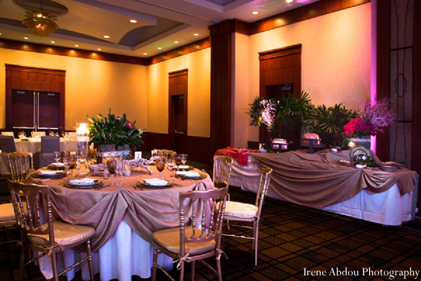 Indian wedding reception decor photography in Wedding Decor Inspiration Shoot by Irene Abdou Photography