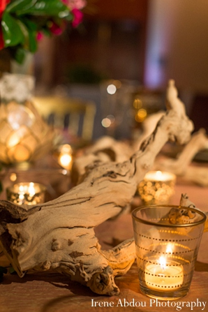 Indian wedding table setting decor lighting in Wedding Decor Inspiration Shoot by Irene Abdou Photography