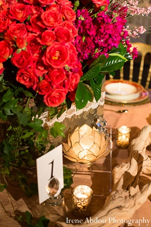 wedding table floral decor indian setting