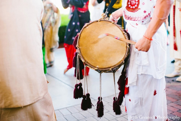 Indian wedding baraat dhol player