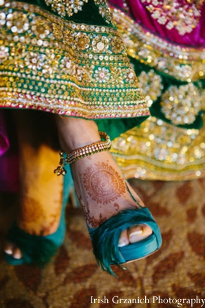 Indian wedding bridal shoes maharani ceremony