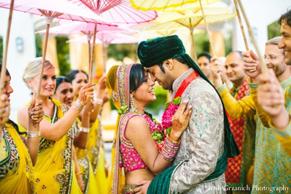 Indian wedding bride groom portrait ceremony