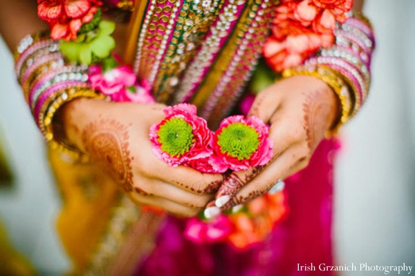 Indian wedding ceremony floral bright colorful