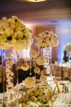Indian wedding floral decor reception