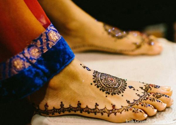 Indian wedding henna feet mehndi bride