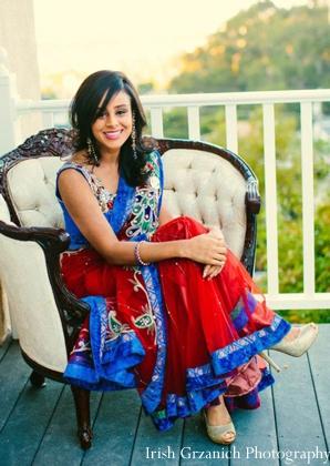 Indian wedding mehndi party bride