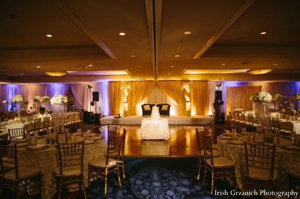 Indian wedding venue reception lighting