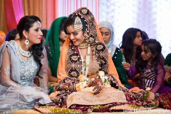 Indian bride traditional clothing in Atlanta, Georgia Indian Wedding by Jamie Howell Photography