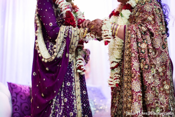 red,dark purple,purple,gold,maroon,bridal fashions,Photography,ceremony,traditional indian wedding,indian wedding traditions,indian wedding wear,Jamie Howell Photography