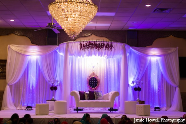 purple,white,Floral & Decor,Lighting,Planning & Design,Venues,ceremony,indian wedding decor,indian wedding decorations,Jamie Howell Photography