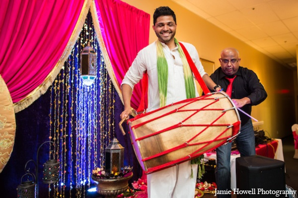 Mehndi party dhol in Atlanta, Georgia Indian Wedding by Jamie Howell Photography