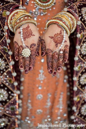 South asian bridal panja bracelets in Atlanta, Georgia Indian Wedding by Jamie Howell Photography