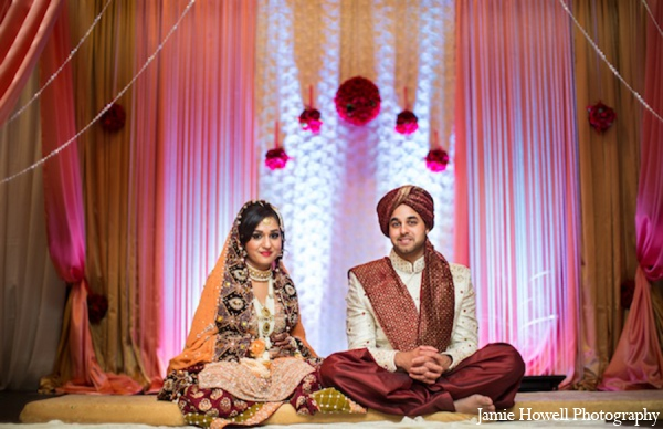 dark purple,maroon,white,bridal fashions,Lighting,portraits,traditional indian wedding,indian wedding traditions,indian wedding wear,light orange,Jamie Howell Photography