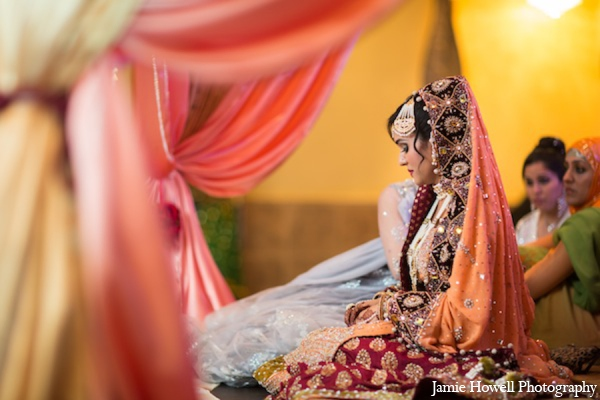 dark purple,gold,maroon,salmon,traditional indian wedding,indian wedding traditions,indian wedding wear,light orange,Jamie Howell Photography