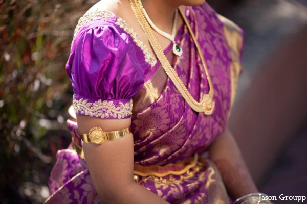Indian wedding bridal portrait  sari jewelry in Exquisite Indian Wedding by Jason Groupp Photography, Jersey City, New Jersey