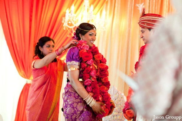 Indian wedding bride ceremony jai mala in Exquisite Indian Wedding by Jason Groupp Photography, Jersey City, New Jersey