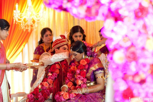 Indian wedding bride groom ceremony mandap rituals in Exquisite Indian Wedding by Jason Groupp Photography, Jersey City, New Jersey