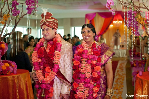 Indian wedding bride groom ceremony venue in Exquisite Indian Wedding by Jason Groupp Photography, Jersey City, New Jersey
