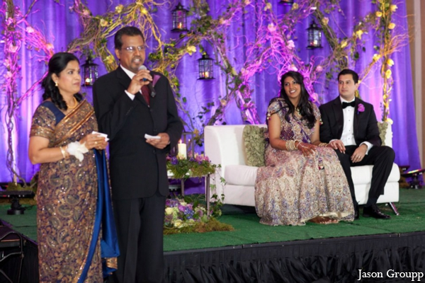 Indian wedding bride groom decor reception in Exquisite Indian Wedding by Jason Groupp Photography, Jersey City, New Jersey