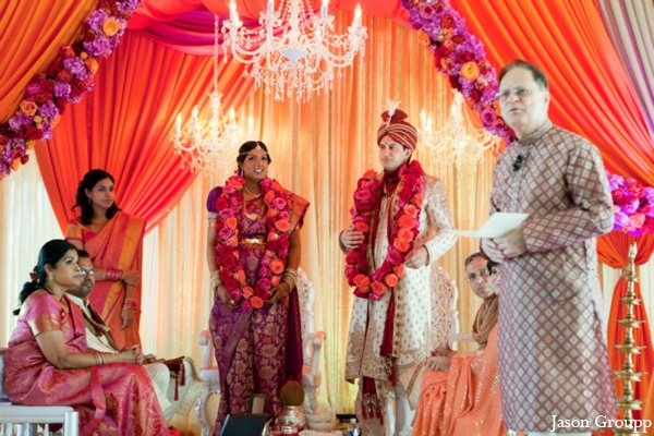 Indian wedding bride groom jai mala in Exquisite Indian Wedding by Jason Groupp Photography, Jersey City, New Jersey